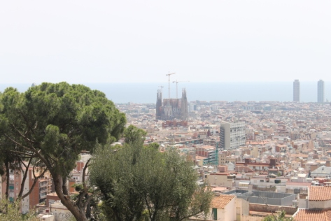 Parc Güell is located in the García district on the hill of El Carmel, and the views it provides of the rest of the city are beautiful, even on the haziest of summer days.