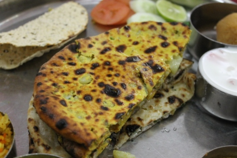 Stuffed paratha in Varanasi.