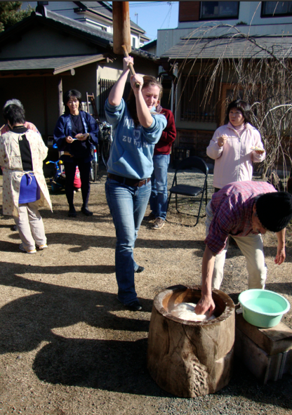 We even got to try our hand at pounding mochi ourselves. I was pretty terrible at it (that's what I get for lacking hand-eye coordination), but it's the effort that counts, right?