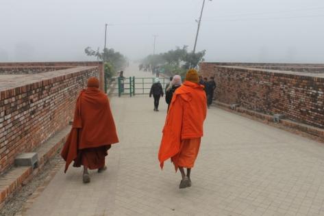 A misty morning in Lumbini