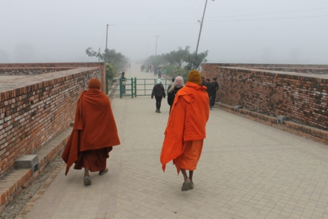 A misty morning in Lumbini