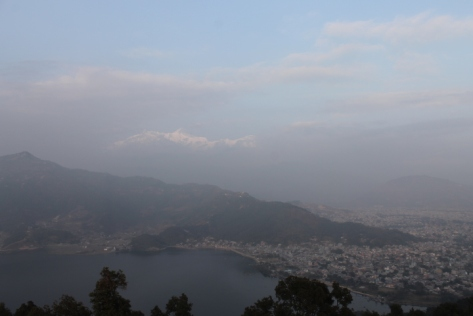 Pokhara, as seen from the pagoda.