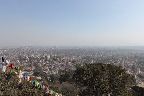 The view of Kathmandu from Swayambhunath.