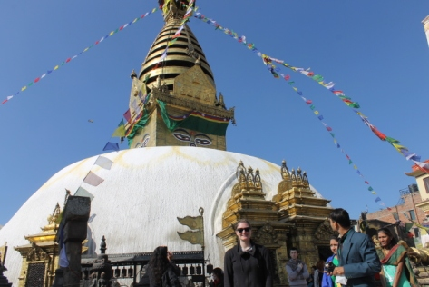 "The word ""stupa"" actually means ""mound"" in Sanskrit, and it's a fitting name."