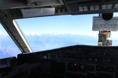 The view from the cockpit!