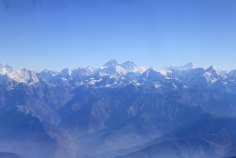 Everest is the taller peak on the left.
