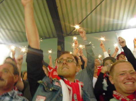 Sparklers aloft. Funnily enough, I think this was one of the few games Köln won that season.