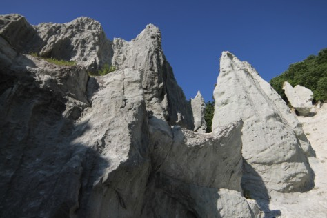 The craggy white cliffs of Hotokegaura in Aomori
