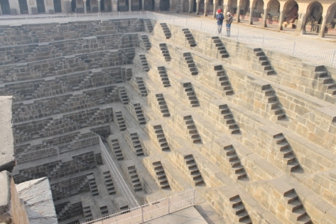 The stairs of Chand Baori in Abhaneri