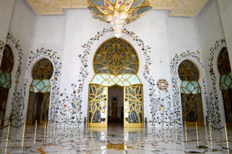 The entranceway to the inner prayer hall.