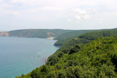 The steep bluffs surrounding Anadolu Kavağı