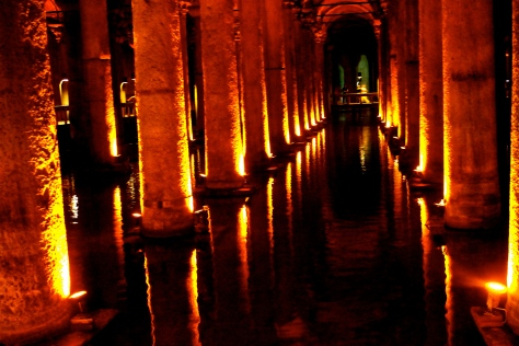 "Another Turkish name for the cistern is 'Yerebatan Sarnıcı"", or ""sunken cistern."""