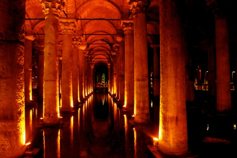 Unlike the rest of the city in August, the Basilica Cistern isn't boiling hot.