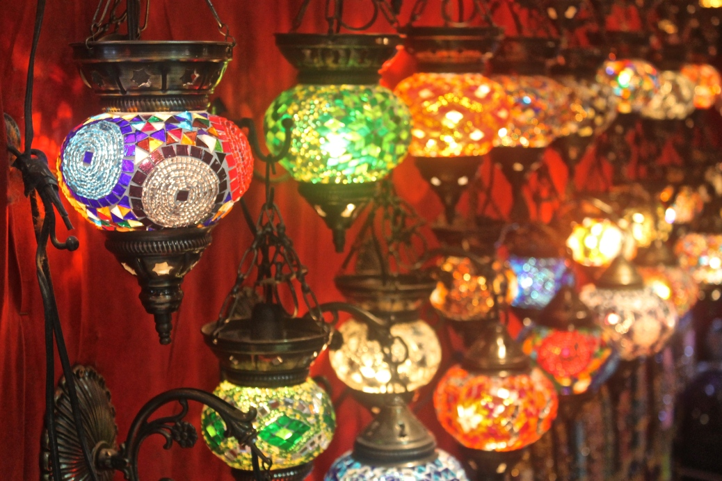 The number one thing I wanted from the Grand Bazaar: a good quality mosaic lamp. (And I ended up with two.)