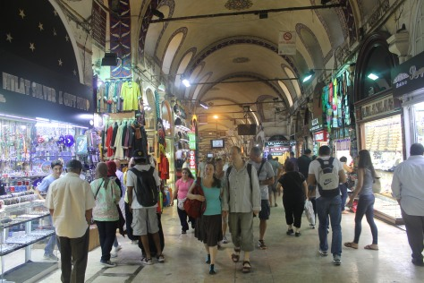 One of the main corridors of the bazaar.