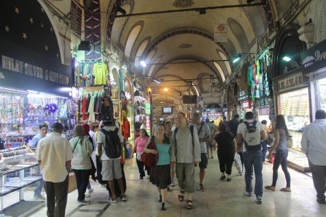 One of the main corridors of the bazaar.