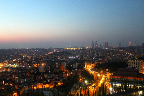 The view from the terrace of Mikla in Beyoglu