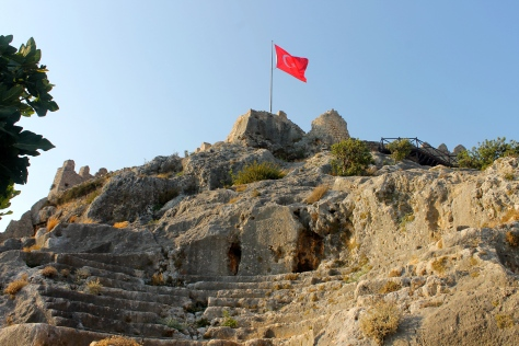 The ruins of Simena. The castle was built for protection from invading pirates.