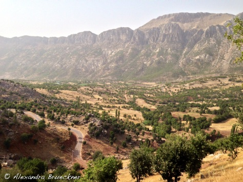 The view from breakfast in the Taurus Mountains