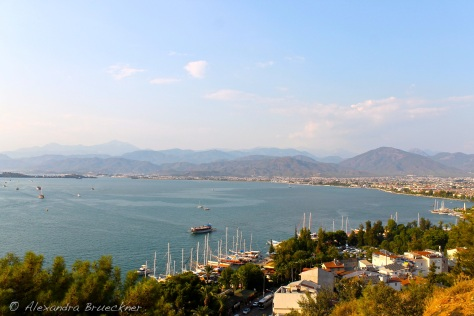 The harbor in Fethiye.