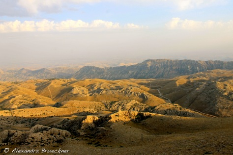 The Taurus Mountains, looking towards the Euphrates River